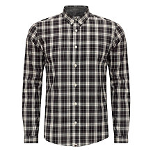 Buy Pretty Green Black Check Cotton Shirt, Black Online at johnlewis.com