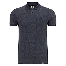 Buy Pretty Green  Paisley Cotton Polo Shirt, Winter Navy Online at johnlewis.com