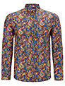 Pretty Green  Paisley Cotton Shirt, Blue