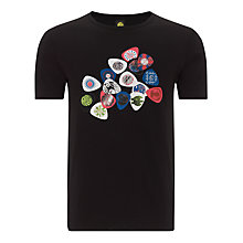 Buy Pretty Green  Plectrum Cotton T-Shirt, Black Online at johnlewis.com