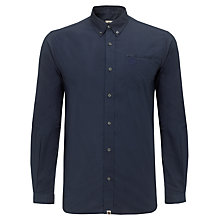 Buy Pretty Green Micro Dot Cotton Shirt, Winter Navy Online at johnlewis.com