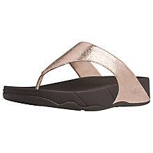 Buy FitFlop Lulu Leather Thong Sandals Online at johnlewis.com