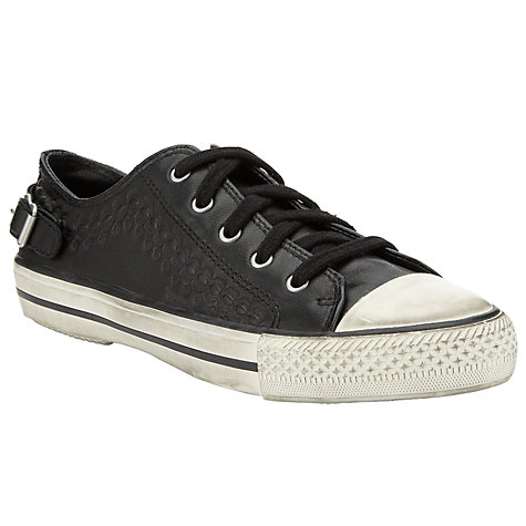 Buy Ash Virgo Leather Trainers, Black Online at johnlewis.com