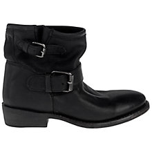 Buy Ash Vegas Buckle Detail Leather Ankle Boots, Black Online at johnlewis.com