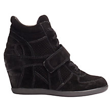 Buy Ash Bowie Suede High-Top Wedge Trainers, Black Online at johnlewis.com