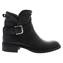 Buy Fly Flis Buckle Detail Leather Ankle Boots, Black Online at johnlewis.com