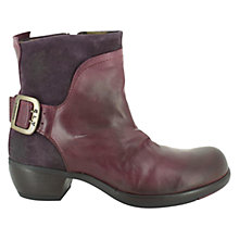 Buy Fly Mel Leather Ankle Boots, Purple Online at johnlewis.com