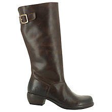 Buy Fly Myly Leather Knee High Boots, Dark Brown Online at johnlewis.com