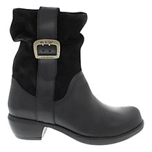 Buy Fly Maha Leather Ankle Boots, Black Online at johnlewis.com