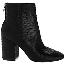 Buy Ash Ginger Leather Block Heel Ankle Boots, Black Reptile Online at johnlewis.com