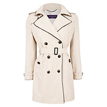 Buy Violeta by Mango Contrast Trim Trench Coat, Light Beige Online at johnlewis.com