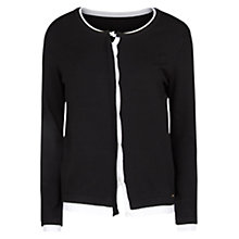 Buy Violeta by Mango Double Layer Cardigan, Black Online at johnlewis.com
