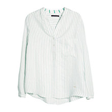 Buy Violeta by Mango Stripe Shirt, Green/White Online at johnlewis.com