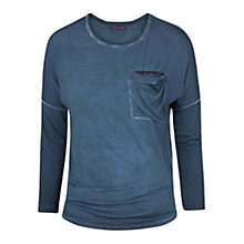 Buy Violeta by Mango Sequin Pocket T-Shirt, Dark Blue Online at johnlewis.com