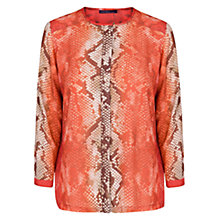Buy Violeta by Mango Snake Print Blouse, Bright Orange Online at johnlewis.com