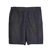 Buy Violeta by Mango Linen Shorts, Navy Online at johnlewis.com
