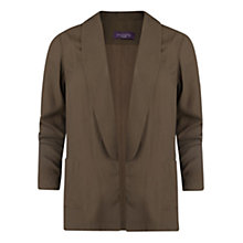 Buy Violeta by Mango Round Lapel Jacket, Light Beige Online at johnlewis.com