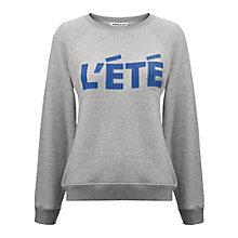 Buy Whistles L'Ete Logo Sweatshirt, Grey Online at johnlewis.com
