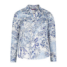Buy Violeta by Mango Paisley Print Blouse, Dark Blue Online at johnlewis.com