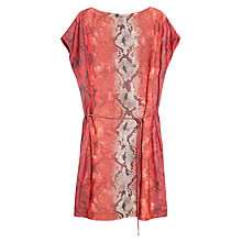 Buy Violeta by Mango Printed Crepe Dress, Bright Orange Online at johnlewis.com