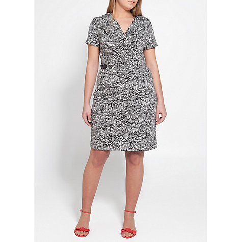 Buy Violeta by Mango Buckle Printed Dress, Black Online at johnlewis.com