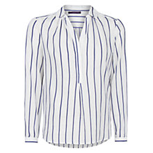Buy Violeta by Mango Striped Blouse, White/Dark Blue Online at johnlewis.com