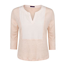Buy Violeta by Mango Linen Panel Blouse Online at johnlewis.com