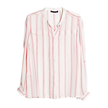Buy Violeta by Mango Printed Flowy Blouse, Light Pastel Pink Online at johnlewis.com