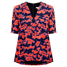 Buy Whistles Megan Blotted Floral Top, Multi Online at johnlewis.com