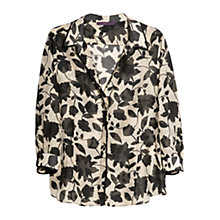 Buy Violeta by Mango Bicolour Print Shirt, Black Online at johnlewis.com