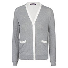 Buy Violeta by Mango Trim Jacket, Medium Grey Online at johnlewis.com
