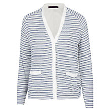 Buy Violeta by Mango Striped Jacket, Dark Blue Online at johnlewis.com