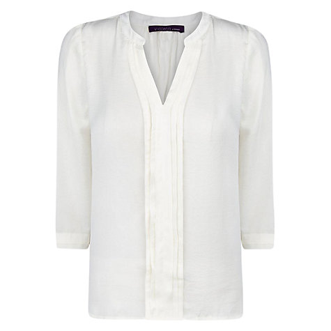 Buy Violeta by Mango Pleated Blouse Online at johnlewis.com