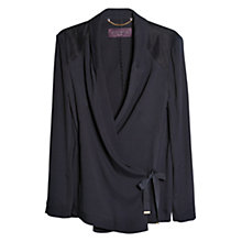 Buy Violeta by Mango Fantasy Contrast Fabric Jacket, Navy Online at johnlewis.com