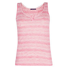 Buy Violeta by Mango Stripe Vest Top, Pink Online at johnlewis.com