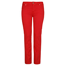 Buy Violeta by Mango Straight Fit Trousers, Bright Orange Online at johnlewis.com