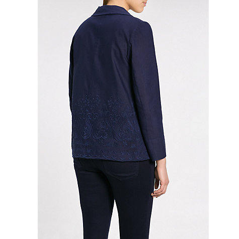 Buy Violeta by Mango Embroidered Jacket, Dark Blue Online at johnlewis.com