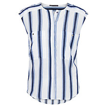 Buy Violeta by Mango Striped Blouse, Dark Blue Online at johnlewis.com