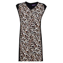 Buy Violeta by Mango Leopard Shift Dress, Black Online at johnlewis.com