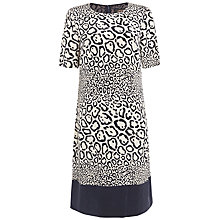 Buy Jaeger Leopard Print Shift Dress, Stone Online at johnlewis.com