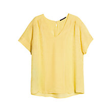 Buy Violeta by Mango Snake Jacquard Blouse, Medium Yellow Online at johnlewis.com