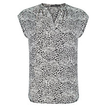 Buy Violeta by Mango Printed Blouse, Black Online at johnlewis.com