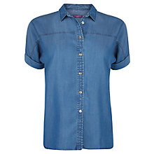 Buy Violeta by Mango Tencel Shirt, Medium Blue Online at johnlewis.com