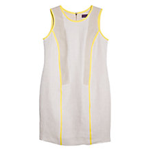 Buy Violeta by Mango Contrast Dress, Beige/Yellow Online at johnlewis.com