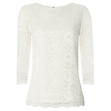 Buy Jaeger Lace Top, Ivory Online at johnlewis.com