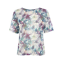 Buy Warehouse Palm Print Half Sleeve T-Shirt, Multi Online at johnlewis.com