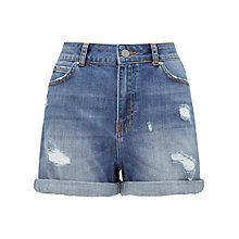 Buy Whistles Tyler Rolled Hem Shorts, Denim Online at johnlewis.com