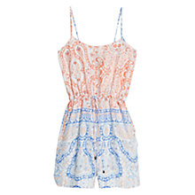 Buy Mango Baroque-Print Short Jumpsuit, Natural White Online at johnlewis.com