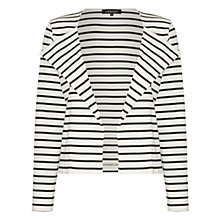 Buy Jaeger Chevron Striped Cardigan, Ivory / Navy Online at johnlewis.com