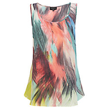Buy Warehouse Silk Feather Print Vest Top, Multi Online at johnlewis.com